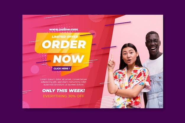 Online-einkaufs- und verkaufsbanner-vorlage