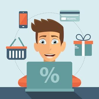 Online einkaufskonzept