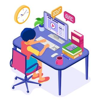 Online-fernunterricht von zu hause aus