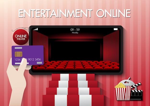 Online-filmkonzept