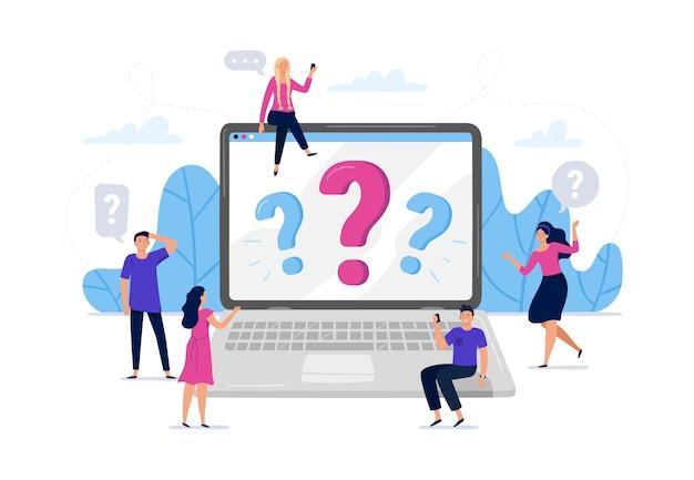Online-frage beantwortet suche