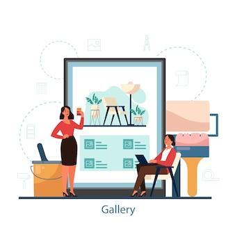 Online-galerie für innenarchitektur