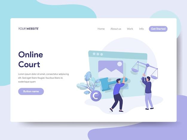 Online-gericht für web-seite
