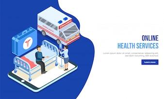 Online-Gesundheits-Konzept.