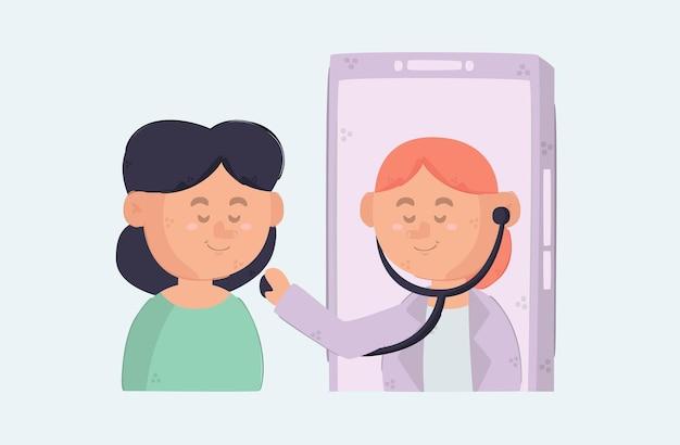 Online-gesundheitswesen auf dem smartphone