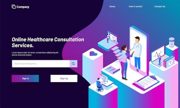 Online healthcare beratungsdienstplattform.