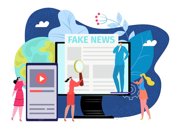 Online-internet-fake-news-konzept