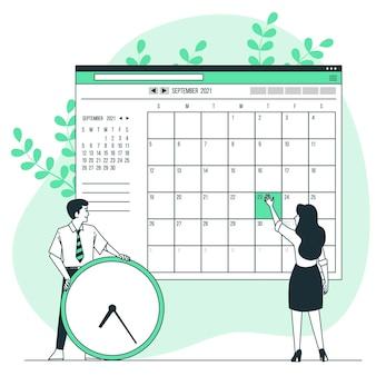 Online-kalenderkonzeptillustration