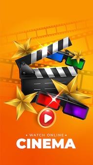 Online-kino oder filmplakat