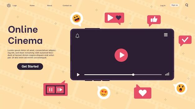 Online-kino. videos, clips, filme über das smartphone ansehen. film-streaming.