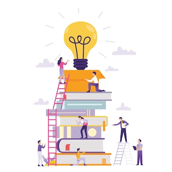 Online-klasse und teamarbeit geschäftsaufbau neue idee