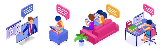 Online-kollaborationserziehung von zu hause aus