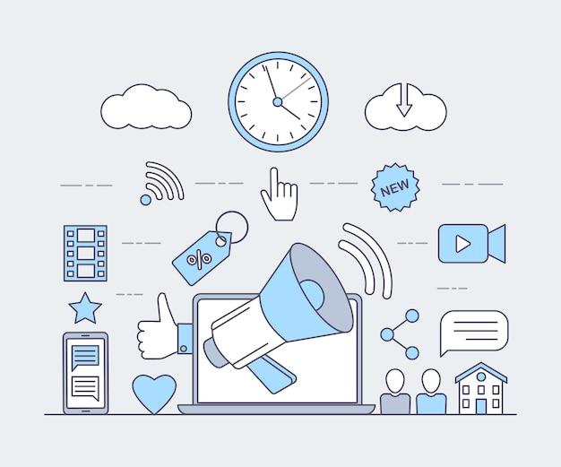 Online-kommunikation und produktion