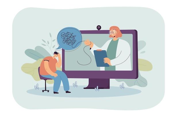 Online-konsultation mit psychologin