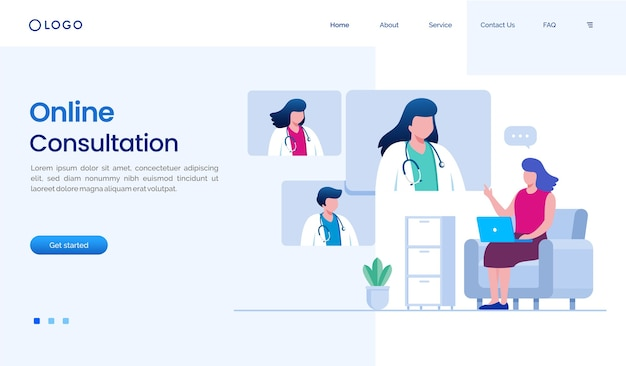 Online-konsultations-landingpage-website-vorlage