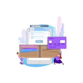 Online-konzept bezahlen