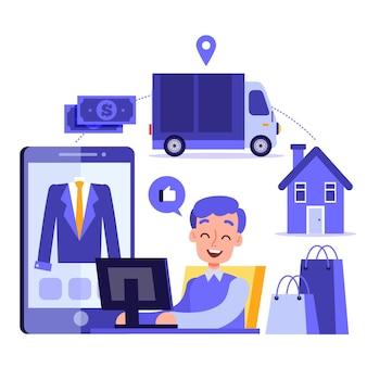 Online-konzept kaufen
