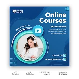 Online-kurs instagram post kostenlose vorlage