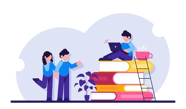 Online-kurse, fernunterricht, online-bücher und studienführer, prüfungsvorbereitung, heimunterricht