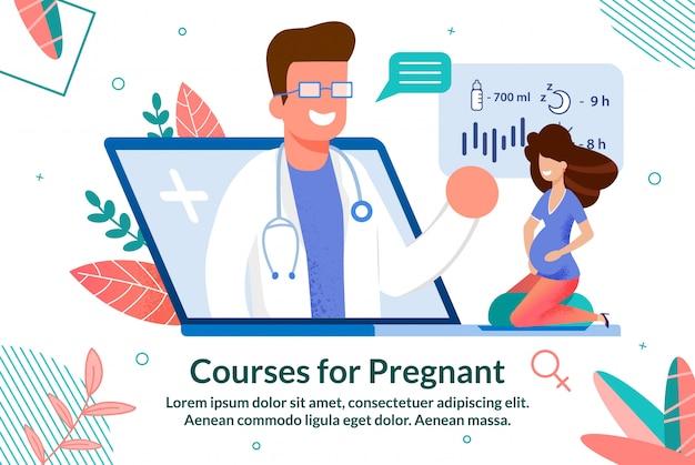 Online-kurse für schwangere foliensatz
