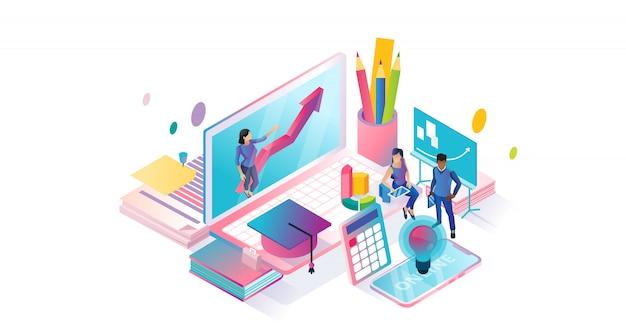 Online-kurse isometrischer cyberspace