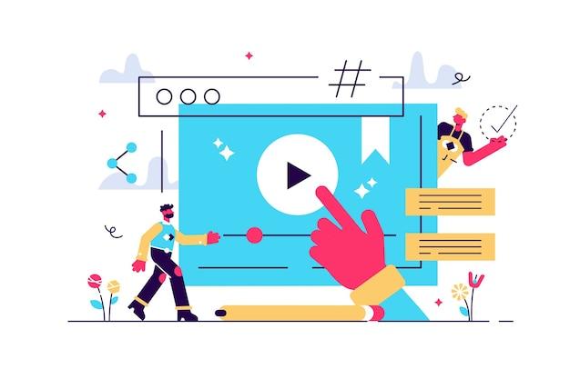 Online-kurse lektion für fernwissen web-studie winzige personen konzept.