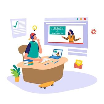 Online-kurskonzept