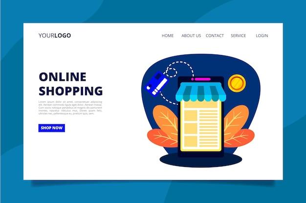 Online-landingpage einkaufen
