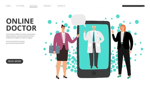 Online-landingpage für arztkonsultationen