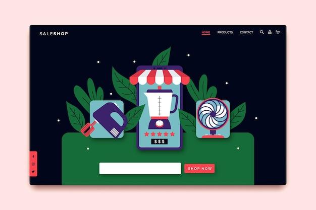 Online-landingpage-thema einkaufen