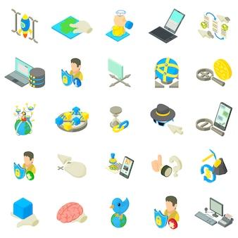 Online-leben-icon-set