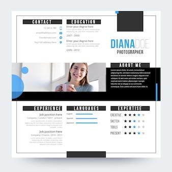 Online-lebenslauf design mit foto