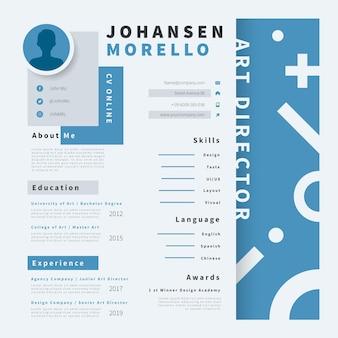 Online-lebenslauf design-vorlage