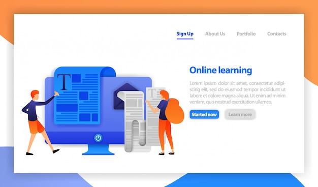 Online-lernen durch lesen und schreiben