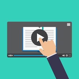 Online-lernen, online-video- und video-tutorial
