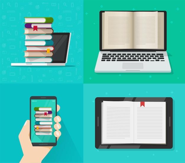 Online-lesekonzept für digitale elektronische bücher auf computer- und handy-app