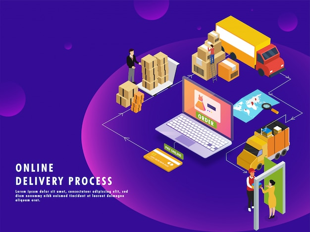 Online-lieferprozess