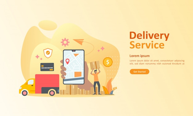 Online-lieferservice weltweit