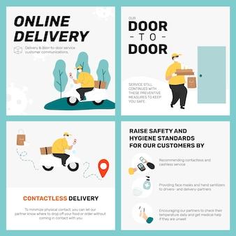 Online-liefervorlage im neuen normalen set