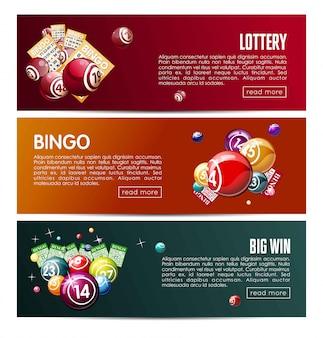 Online-lottospiel für die bingo-lotterie