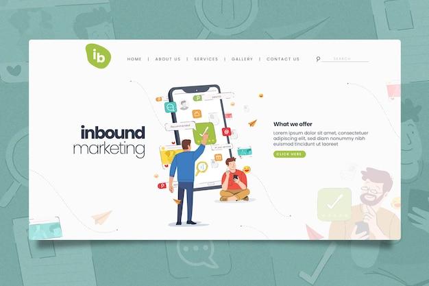 Online-marketing-landingpage-vorlage Premium Vektoren