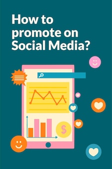 Online-marketing-strategievorlage im flachen design für social media
