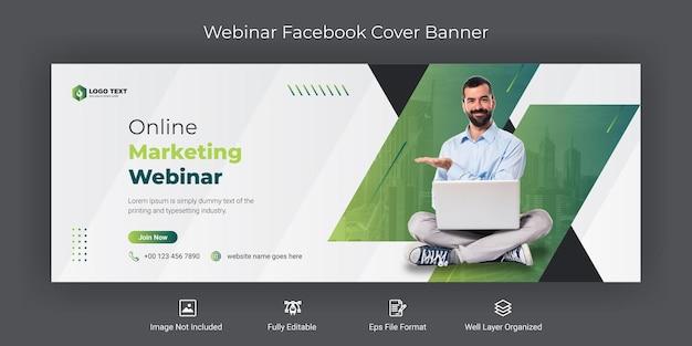Online-marketing-webinar facebook-cover-banner-vorlage