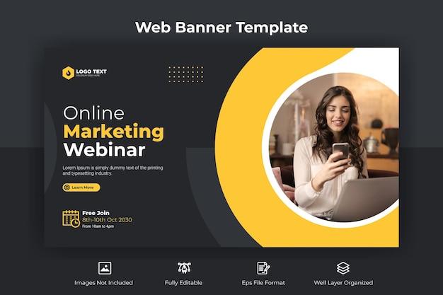 Online-marketing-webinar-webbanner und youtube-thumbnail-vorlage
