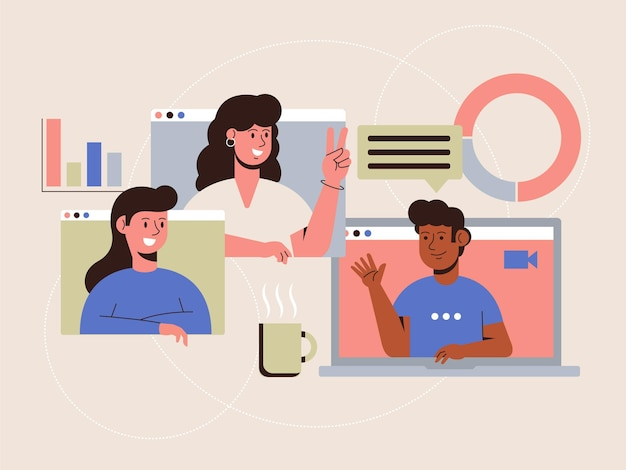 Online-meeting-illustration