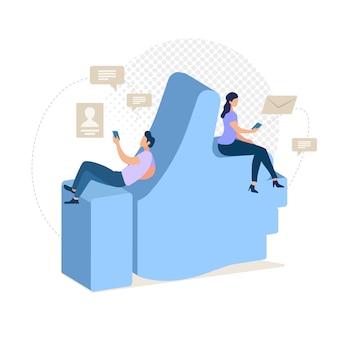 Online mit freunden kommunizieren.