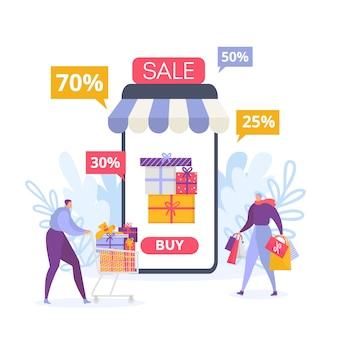 Online mobiles einkaufen und verkauf