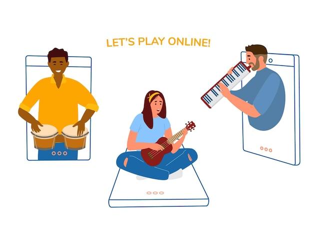 Online-musikkonzert oder partykonzept.