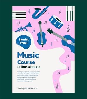Online-musikkurs-poster-vorlagendesign