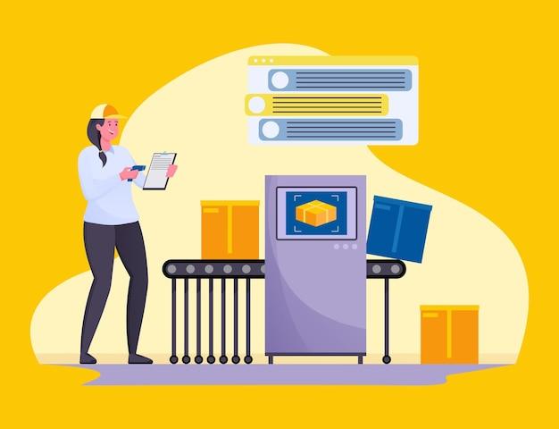 Online-nachverfolgung von bestellungen durch kurierbeamte in lagern